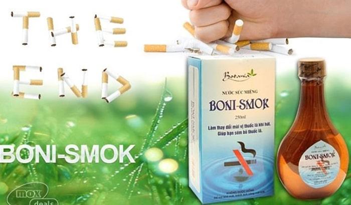 Nước súc miệng cai thuốc lá Boni Smok
