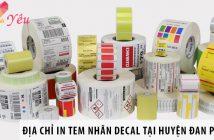 Địa chỉ in tem nhãn decal uy tín tại huyện Đan Phượng, Hà Nội 2